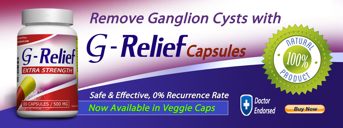 G-Relief Capsules. Alternative to ganglion cyst surgery. INFO ganglioncysttreatment.com
